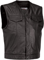River Road Men's Leather Vandel Vest