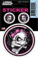 Lethal Threat Web Girl Skull Decal