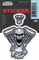 Lethal Threat V-twin Engine Decal