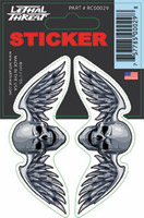 Lethal Threat Winged Skull Decal