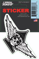 Lethal Threat Motorwork Skull Decal