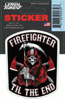 Lethal Threat Reaper Firefighter Decal