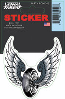Lethal Threat Wing Tire Decal
