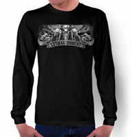 Lethal Threat Biker Skull Long-Sleeve T-shirt