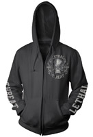 Lethal Threat Ripping Skull Zipper Hoodie