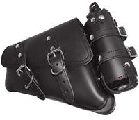 LaRosa Design Black Solo Side Bag with Fuel Bottle