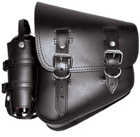 LaRosa Design Black Solo Side Bag with Fuel Bottle