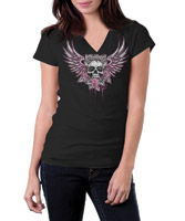 Lethal Threat Flying Skull T-shirt