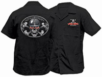 Lethal Threat Spiked Skull Workshirt