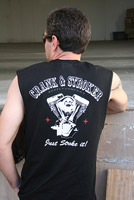 Crank & Stroker Supply Men's All Motor Black Sleeveless T-shirt