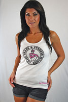 Crank & Stroker Supply Women's She Devil White Tank Top
