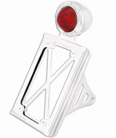 Roland Sands Design Vertical Chrome Taillight with License Plate Holder