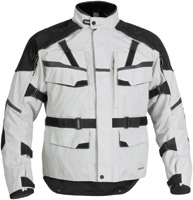 Firstgear Men's Silver Jaunt Textile Jacket