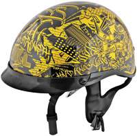 Speed and Strength Gold-n-Black Hard Knock Life 1/2 Helmet