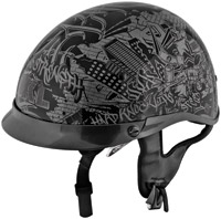 Speed and Strength Gray-n-Black Hard Knock Life 1/2 Helmet