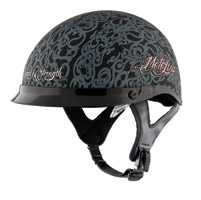 Speed and Strength SS400 MotoLisa Matte Black and Silver Half Helmet