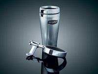 Kuryakyn Mirror Mounted Drink Holder with Stainless Steel Mug