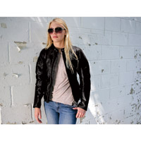 Roland Sands Design Maven Women's Black Leather Jacket