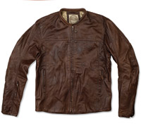 Roland Sands Design Men's Tobacco Barfly Leather Jacket