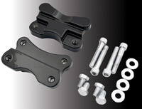Drag Specialties Black Fender-to-Fork Adapter for 21