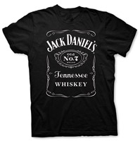 Jack Daniel's Men's Black Front Label T-shirt