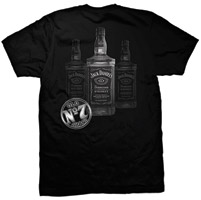 Jack Daniel's Men's Black 3 Bottles T-shirt