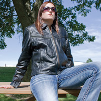 Allstate Leather Inc. Allstate Women's Leather Braided Jacket