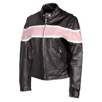 Allstate Leather Inc. Ladies Pink Two Tone Leather Jacket