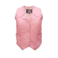 Allstate Leather Inc. Women's Pink Leather Vest