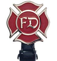Biker Boot Straps Fire Department 6