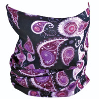 ZAN headgear Purple Paisley Motley Tube