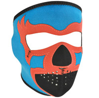 ZAN headgear Blue Lucha Libre Neoprene Face Mask