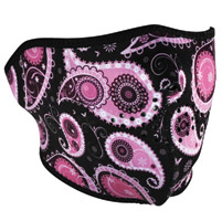 ZAN headgear Purple Paisley Neoprene Half Mask