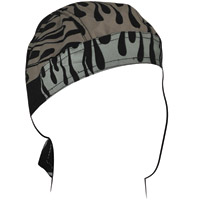 ZAN headgear Reflective Flames Flydanna Head Wrap