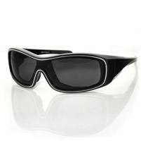 Bobster Zoe Convertible Black Frame with Anti-fog Smoked Lens