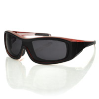 Bobster Zoe Convertible Black/Red Frame with Anti-fog Smoked Lens