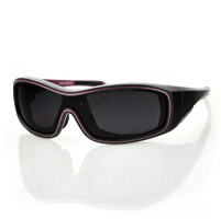 Bobster Zoe Convertible Black/Purple Frame with Anti-fog Smoked Lens