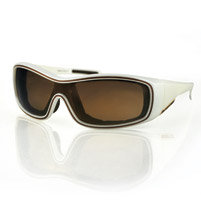 Bobster Zoe Convertible Pearl Frame with Gold Mirror Brown Lens