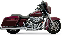 Bassani Chrome B4 Exhaust System with Megaphone Muffler
