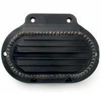 JIMS Black Anodized Handcrafted Transmission Side Cover