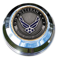 Motordog69 Air Force Veteran Coin and Gas Cap Coin Mount