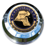 Motordog69 Desert Storm Veteran Coin and Fuel Cap Coin Mount