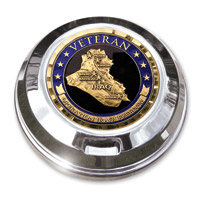 Motordog69 Iraqi Freedom Veteran Coin and Gas Cap Coin Mount
