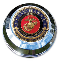 Motordog69 Marine Veteran Coin and Fuel Cap Coin Mount
