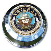 Motordog69 Navy Veteran Coin and Fuel Cap Coin Mount