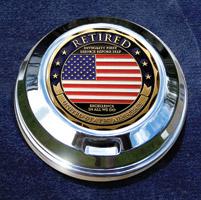 MotorDog69  Gas Cap Coin Mount with