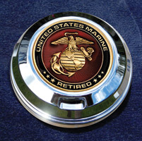 Motordog69 Retired Marine Coin and Gas Cap Coin Mount