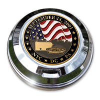 Motordog69 September 11th Coin and Fuel Cap Coin Mount