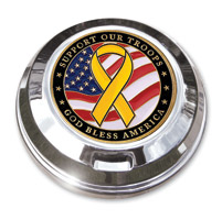 Motordog69 Support The Troops Coin and Gas Cap Coin Mount