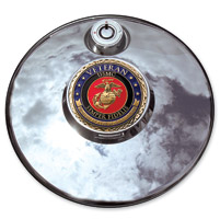 Motordog69 Marine Veteran Fuel Door Coin and Mount